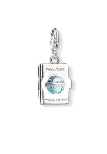 "THOMAS SABO silver Charm pendant ""passport"" A8E23ACC74F505GS_1"