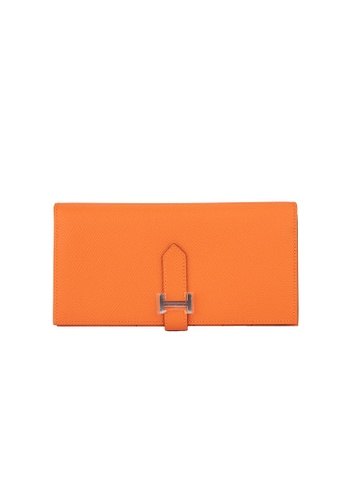 Hermès orange Hermes Feu Bearn Wallet 8C3B5AC5EA01BDGS_1