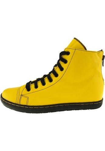Maxstar 黃色 新款韩国鞋202-BZ-TC-Taller時尚皮革布混合女黃色 US Women Size MA345SH39GRSTW_1