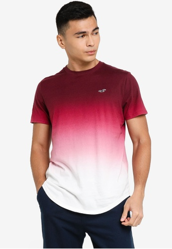 Hollister red Curved Hem Casual Tee 766ADAABC06A07GS_1