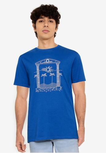 Springfield blue Greek T-Shirt C0794AAD455CCBGS_1