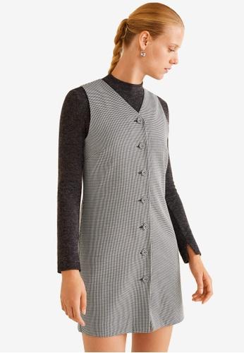 Mango black Houndstooth Dress 6619BAA1146A63GS_1