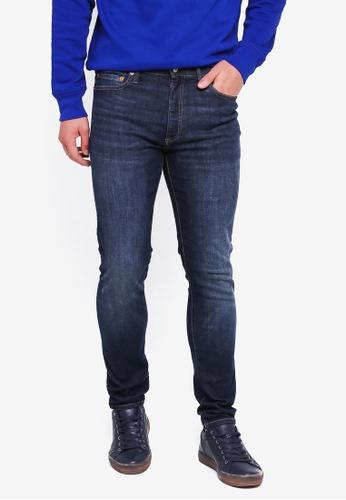 GAP blue Super Skinny Worn Dark Jeans 5AA40AAF704C69GS_1