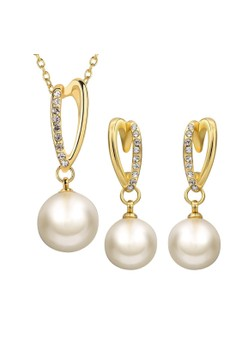 Treasure by B&D S393-A Czech Drilling Artificial Pearls Pendant Necklace & Earrings Party Jewellery Set