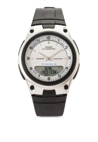 Casio multi Casio Men's World Time Black Band Watch CA843AC96ADFMY_1