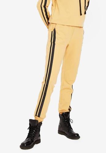 LC Waikiki yellow Stripe Detailed Sweatpants 4A55EAA9712E1BGS_1