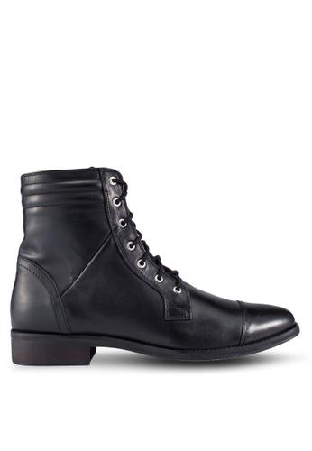 ACUTO black Leather 7-Eye Boots AC283SH17USCMY_1