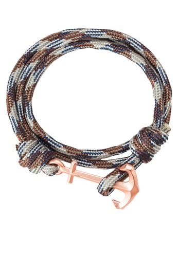 Panamzalora 順豐a 船錨鉤扣纏繞手環, 飾品配件, 手環