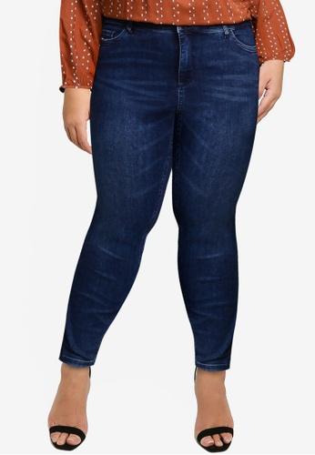 Vero Moda navy Loraemilie Hw Db Jeans - K Curve BE95BAA067C460GS_1