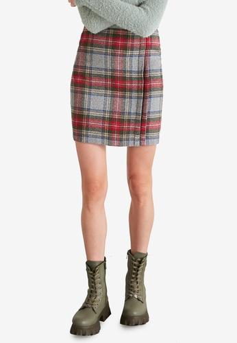 Trendyol multi Multicolored Plaid Mini Skirt DB68DAA3458BF1GS_1