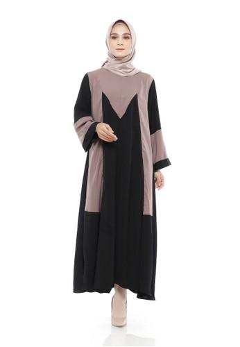 Mimamim brown Fatia Busui Dress 1C8DDAAF295795GS_1