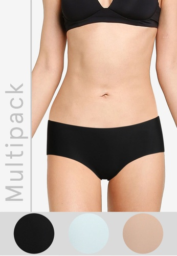 Cotton On Body black and multi Party Pants Boyleg Brief 3 Pack 62F65US24EF595GS_1