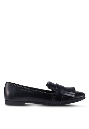Something Borrowed black Fringe Loafers 5078ASHF774AECGS_1