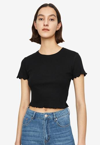 Urban Revivo black Basic Short Sleeve T-Shirt CCB0DAAB8A9967GS_1