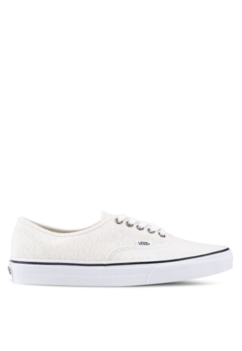 VANS white Authentic Cotton Hemp Sneakers VA142SH0SWPJMY_1