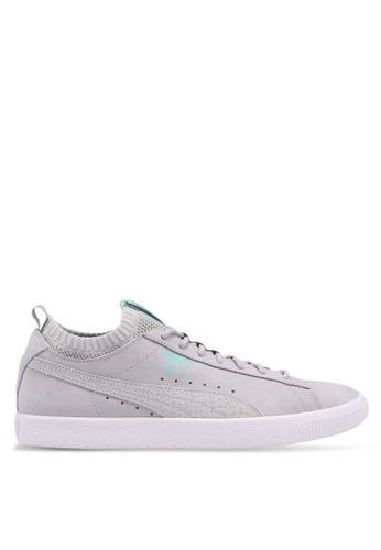 Puma Select grey Puma X Diamond Clyde Sock Lo Sneakers 28AF4SHA97ADDBGS_1