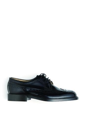 HARUTA 黑色 男裝經典綁帶皮鞋-710 CF09ESH598C62AGS_1