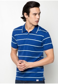 Slim Fit Stripes Polotee