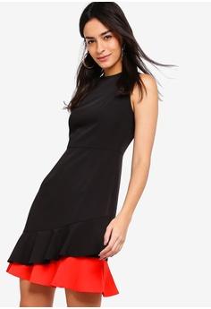 ZALORA black and red Layered Ruffles Dress AAFB6AA0B7BC9FGS 1 329dd4c30
