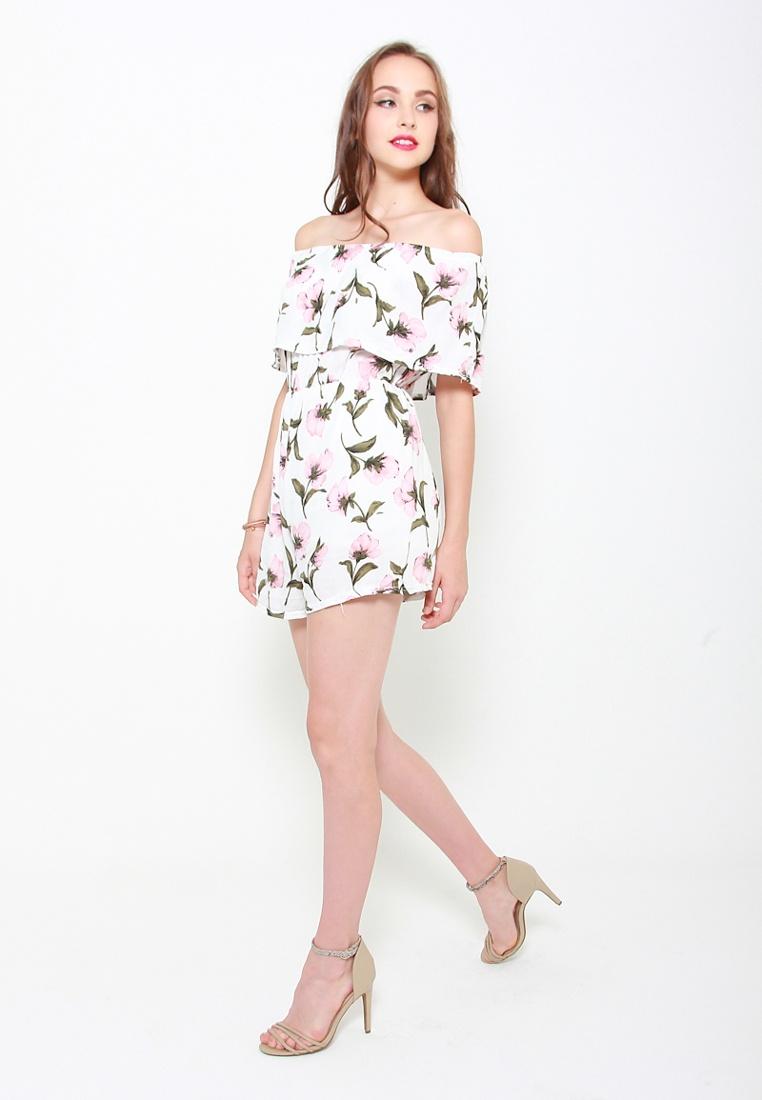 Floral Sophialuv Love Name In White In Romper The White Of xqXrXRI