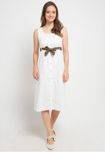 Miyoshi Jeans white Dr185Pn Dress 2E6FFAAA272C5DGS_1