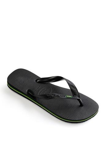 Havaianas black Brasil Flip Flops 99829SH56262BEGS_1