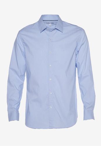 Old Navy blue All-New Slim-Fit Pro Signature Performance Dress Shirt 954C0AA3E2853DGS_1