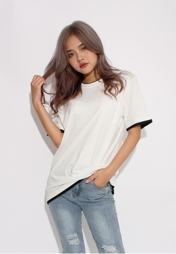Seoul in Love white Hyeon One Piece T Shirt In White SE496AA0GX2SSG_1
