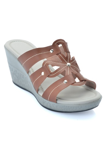 LENO brown Tarely Wedge Sandal (LS36582) LE122SH20ALZMY_1