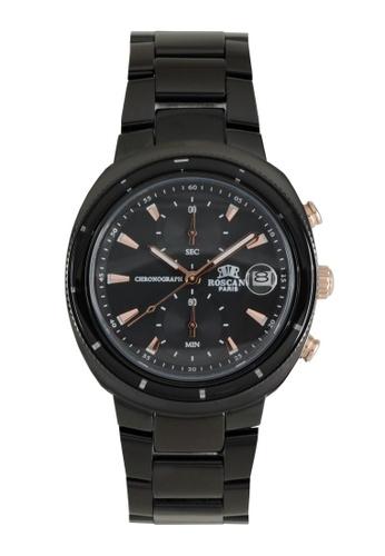 Roscani black Roscani Oscar 971 (Ceramic Bezel + WR 5ATM) Black Bracelet Men Watch 1C8B1ACE8C4918GS_1