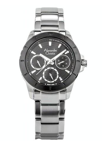 Alexandre Christie silver Alexandre Christie Jam Tangan Wanita - Silver Black - Stainless Steel - 6388 BFBTBBA 35733AC69A2F12GS_1