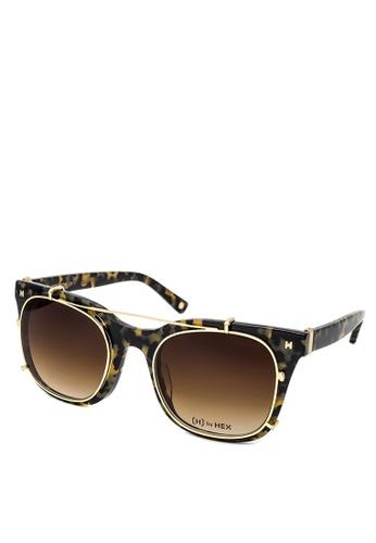 HEX EYEWEAR black and brown Model - Derek Z. - Optical with Clip-on - Italy Design HE671AC2V1JMHK_1