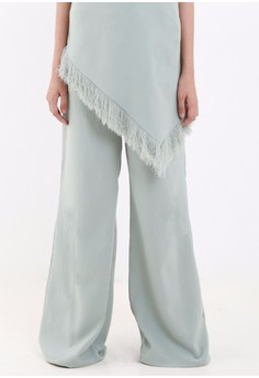 [PRE-ORDER] Mint Green Crepe Palazzo Pants
