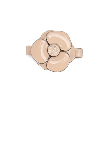 Glamorousky white Fashion and Elegant Pink Camellia Small Hair Slide with Cubic Zirconia 34294AC4878B8FGS_1