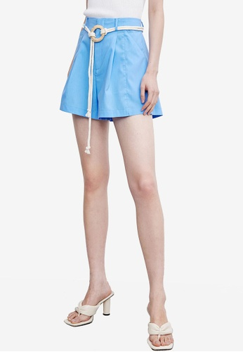 URBAN REVIVO blue Rope Tie Shorts 5596FAA27E7C90GS_1
