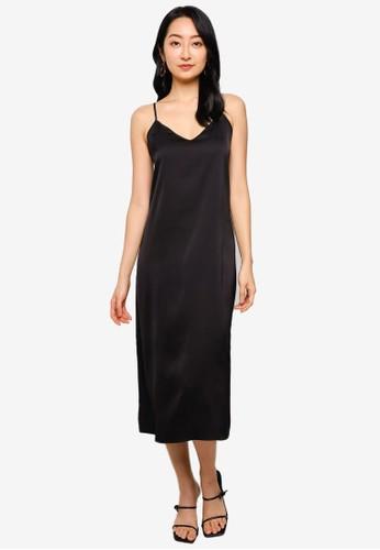 ONLY black Manias Midi Strap Dress 8422CAA9D69E00GS_1
