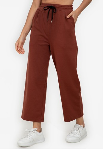 ZALORA ACTIVE red Relaxed Wide Leg Pants 32E2AAADB9C425GS_1