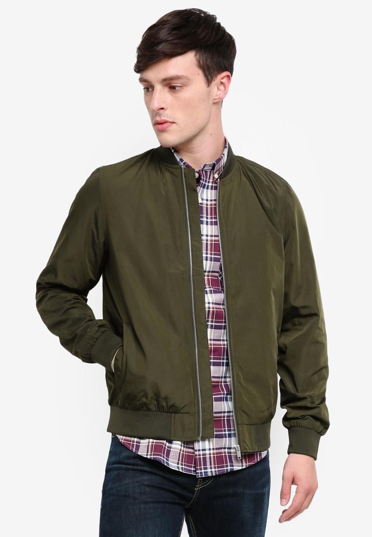 London Khaki Menswear Jacket Nylon Olive Khaki Burton Bomber HAO8Xq