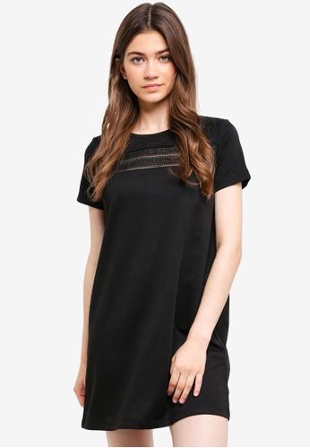 Something Borrowed black Lace Tee Dress 59391AA6C85CFFGS_1