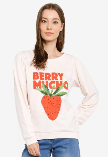 Compania Fantastica white Berry Mucho Sweatshirt 13356AA8402980GS_1