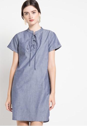 EDITION blue Denim Dress ED101AA76RJVID_1