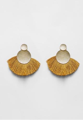 Love, Bonito yellow Mio Tassel Earrings 39A7DAC7D34BC0GS_1