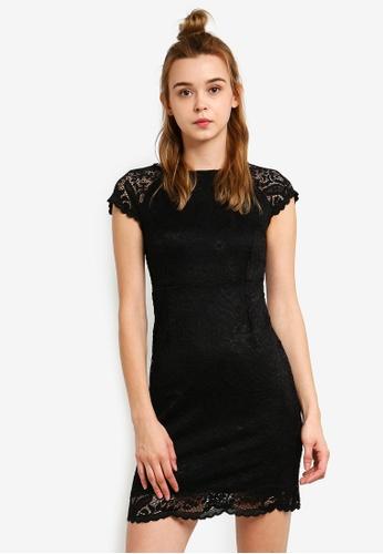 a36f341d7e ONLY black Shira Lace Dress ON573AA0S48ZMY 1