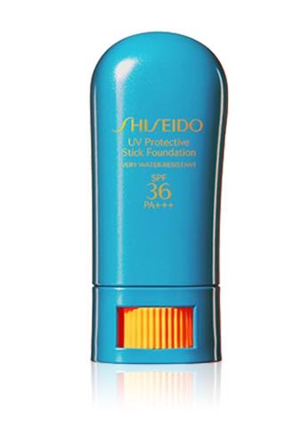 Shiseido beige Global Suncare UV Protective Stick Foundation, Ochre SH514BE0GQ4MSG_1