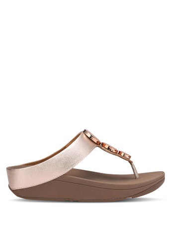 Fitflop gold Halo Toe Thong Sandals FI522SH0RP67MY_1