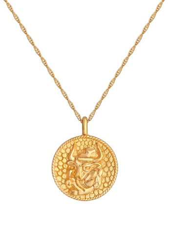 ELLI GERMANY gold Zodiac Sign Taurus Coin Gold Necklace 0312CACFC88ACCGS_1