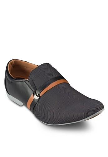 拼接皮飾樂福鞋, 鞋,zalora 折扣碼 鞋
