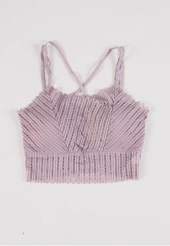 DreamTales Wardrobe purple Lace Bralette with Padded Bra C8FE5US738E361GS_1