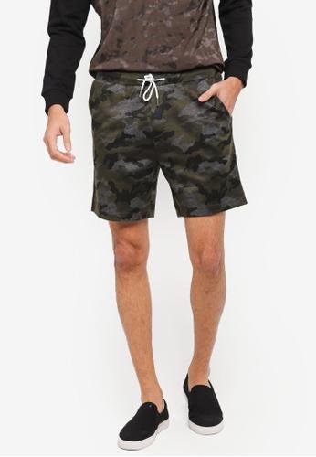 JAXON green Pique Jersey Shorts A2C6BAA3AC8D80GS_1