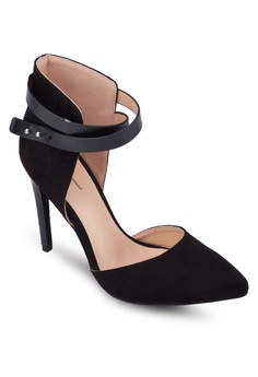 Double Ankle Wrap Pointed Heels